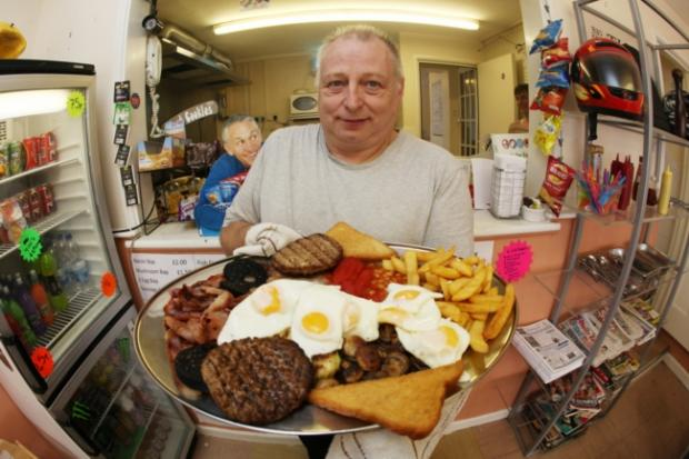 Peter Hurley with his ultimate breakfast