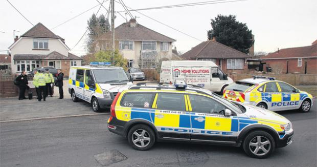 The scene of the raid in Testwood Lane