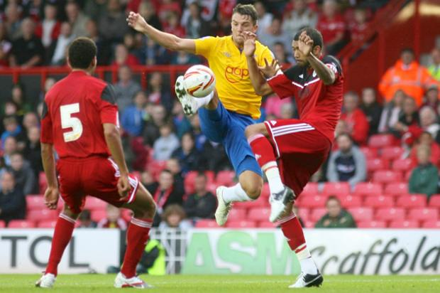 Jay Rodriguez in action against Bristol City