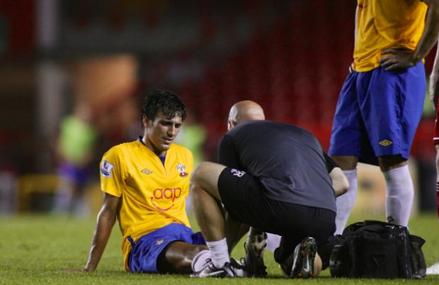 Jack Cork's injury is seen to last night