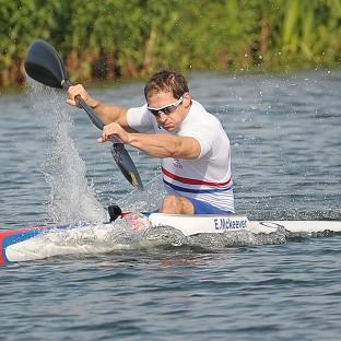 Ed McKeever is in the men's kayak single 200m final