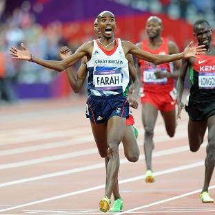 Daily Echo: Great Britain's Mo Farah wins the men's 5,000m final in the Olympic Stadium, London