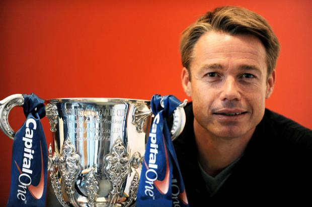 Former Saint Graeme Le Saux with the Capital One Cup