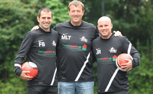 Matt Le Tissier with Francis Benali, left, and Jody