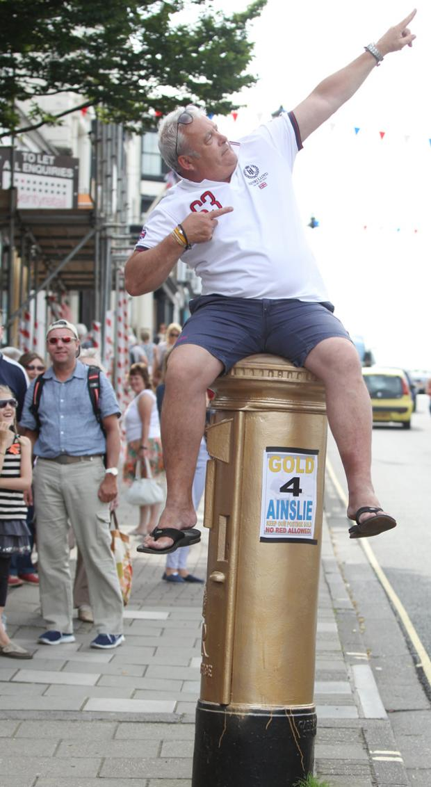 Rob Smith and the post box in Lymington