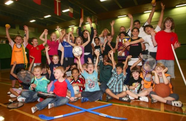 ACTIVE: Children at a sports club at Fleming Park Leisure Centre, Eastleigh