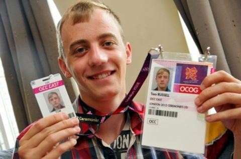 Daily Echo: Tom Russell, 21, with London Olympic 2012 cast identification