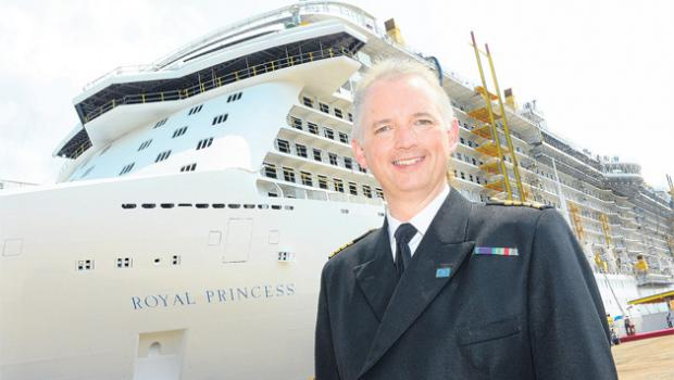 Royal Princess and captain Tony Draper,