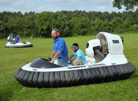 Daily Echo: Youngsters enjoy a ride on a hovercraft