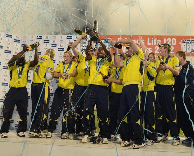 Hampshire celebrate their 2012 success