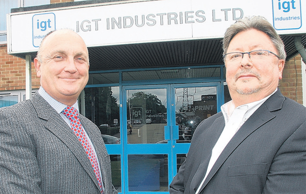 Stephen Phipson, left, chief executive of Stadium, with Nick Giles, managing director of IGT