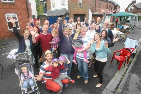 Residents getting into the spirit of party in Cathedral View, Highcliffe on Sunday