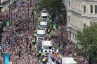 Crowds line the streets of London to celebrate Team GB's sporting stars