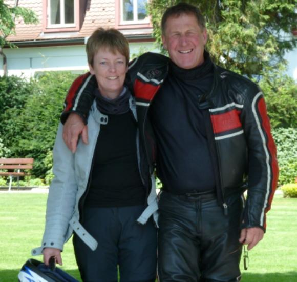 Christine Gaiger and her husband on a similar biking holiday.