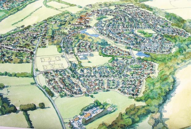 How the development at Boorley Green will look