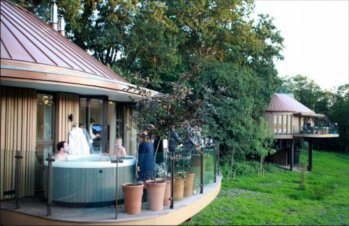 The luxury lodges opened at Chewton Glen