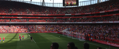 Saints fans at the Emirates