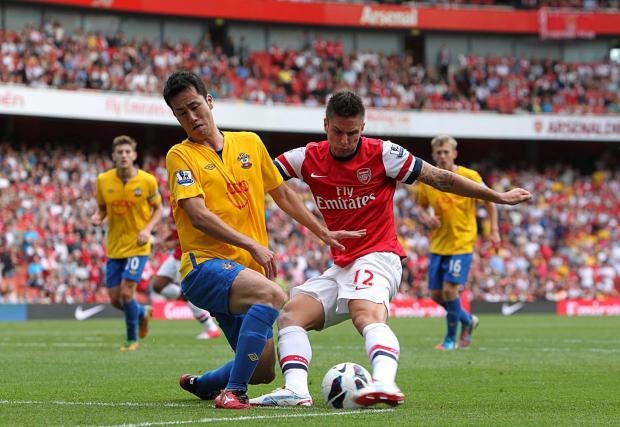 Maya Yoshida in action for Saints at Arsenal