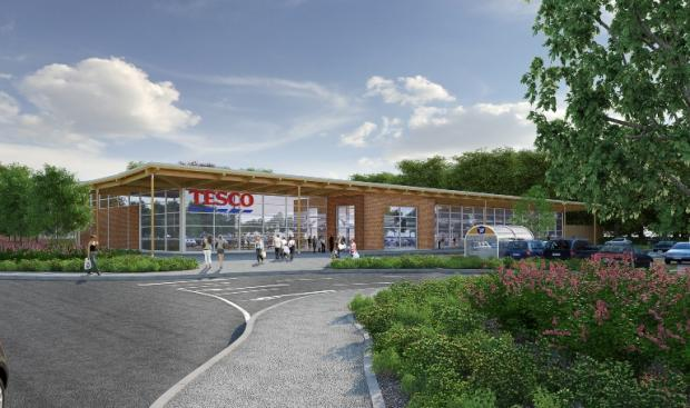 An artists impression of the planned store