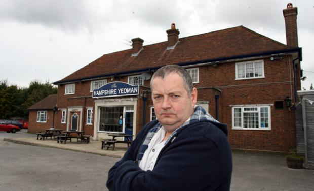 The Hampshire Yeoman pub landlord Richard Clark.