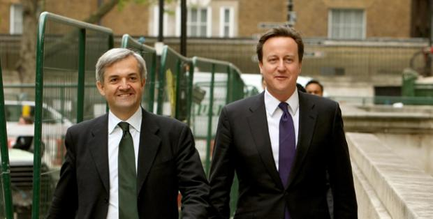 Chris Huhne and David Cameron
