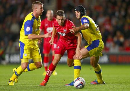 Picture from the Capital One Cup third round clash between Saints and Sheffield Wednesday at St Mary's Stadium. The unauthorised downloading, editing, copying, or distribution of this image is strictly prohibited.