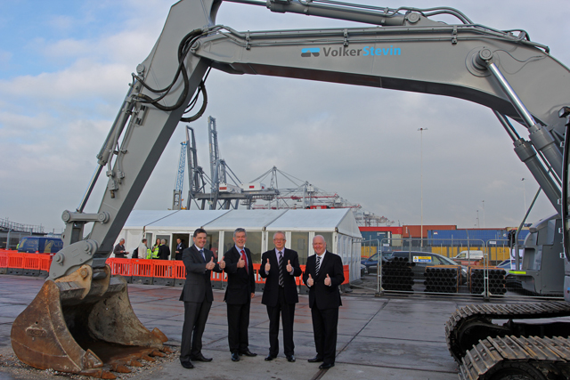 Work starts on £150m upgrade of container port