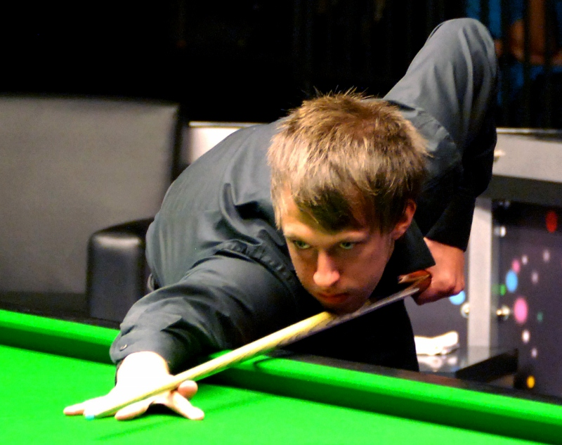 Picture by Kevin Legg: Judd Trump in action at the Guildhall last year.