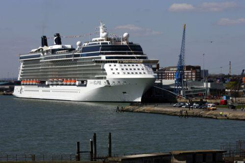 Celebrity Eclipse berthed in Southampton