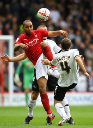 Dexter Blackstock in action for Nottingham Forest