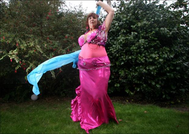 Daily Echo: Belly dancing Lydia Osborne.