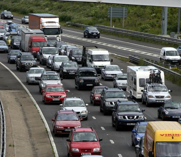 Major motorway hold ups after over running roadworks