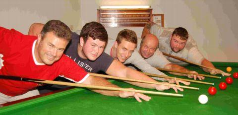 Lyndhurst Workmens Club B: From left: Gary Cool (capt), Louis Cool, Matt Windsor, Paul Williamson, Dave Hollyoake. Not pictured: Graham Williamson, Tyronne Murphy, Simon Weymouth, Stuart Holley.