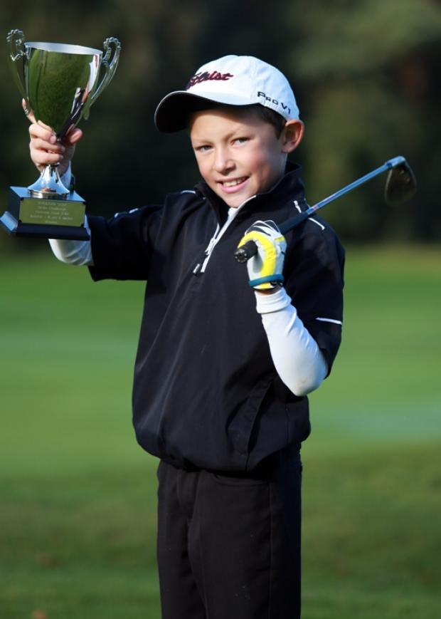 Is Drew, eight, a Ryder Cup hero in the making?