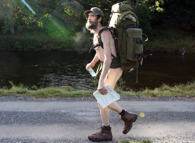 Naked Rambler back in England