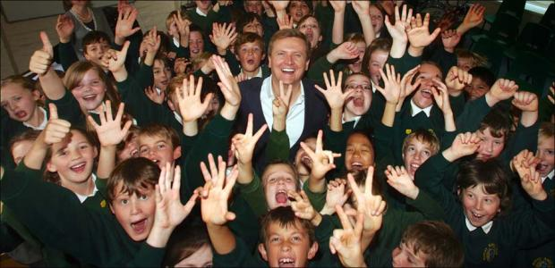 TV star Aled Jones wowed by pupils