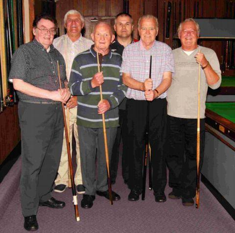 shirley conservative club a: From left: Bob Lofthouse, Dave Parkes (capt), Dave Rowbotham, Richard Clarke, Tony Hannam, Dave Bundy.