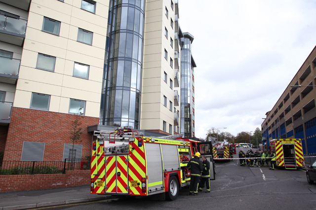 Fire at city towerblock