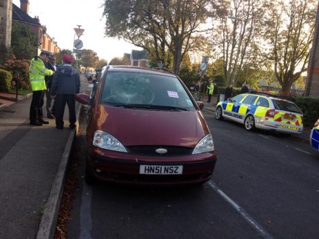 The Ford Galaxy involved in the collision. Photo by Matthew Myatt