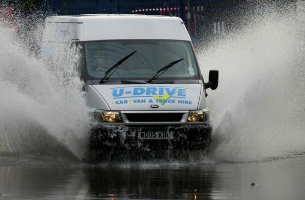 Torrential rain brings flash floods to Hampshire