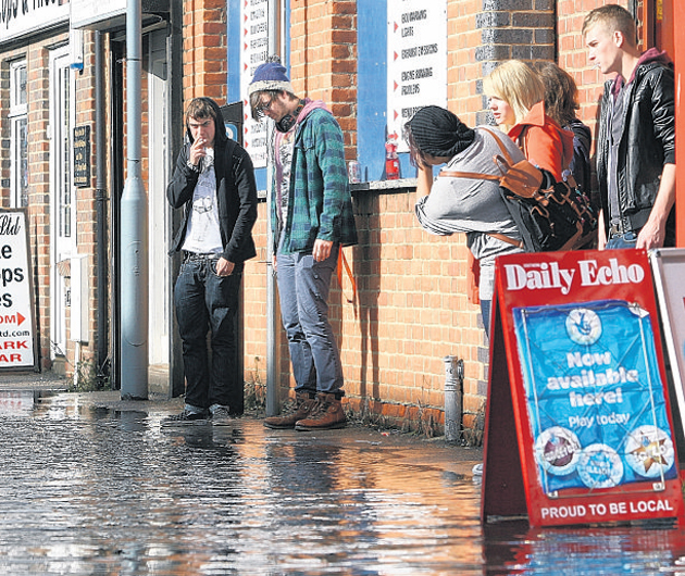City drying out after last night's floods