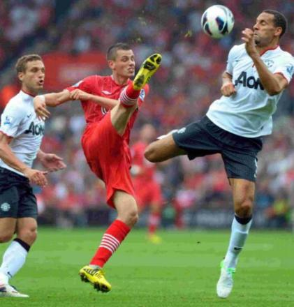 Morgan Schneiderlin in Premier League action against Manchester United