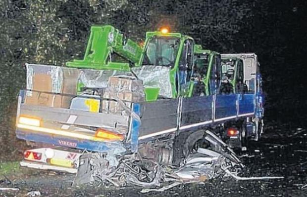 The aftermath of last week's fatal crash on the A31.