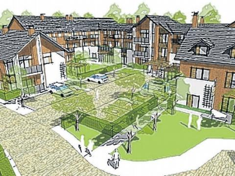 An artist's impression of the sheltered accommodation plans at Coldeast in Sarisbury Green.