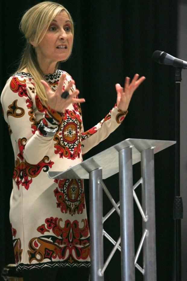 Fiona Phillips at the school's grand opening ceremony