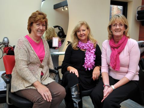 From left: Fundraising co-ordinator Kathy Williams, with Pink Place founder Janis Taylor and trustee Lindy Richardson