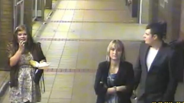 CCTV image of three people police want to trace