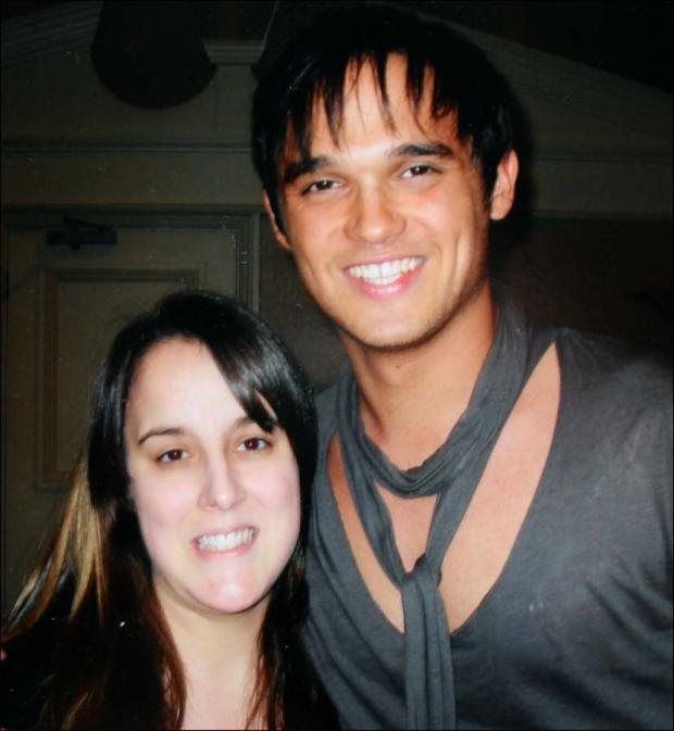 Emily with her hero Gareth Gates