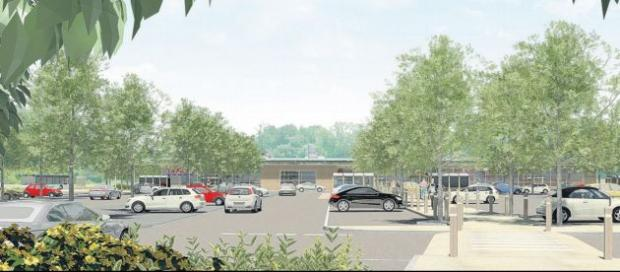 CONTROVERSIAL: An artist's impression of the proposed Tesco store at Romsey.