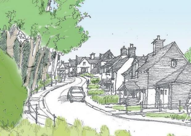 An artist's impression of how the new housing at Boorley Green could look